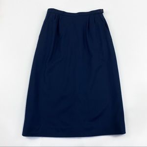 Vtg Pendleton navy blue wool skirt size 86 sm/med